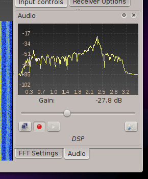 Gqrx audio options