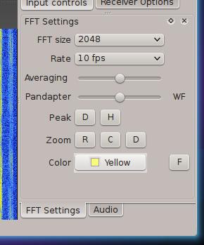 Gqrx FFT settings