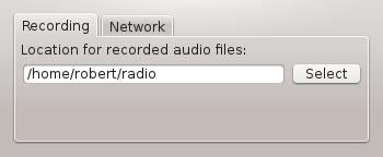 Gqrx audio recording options